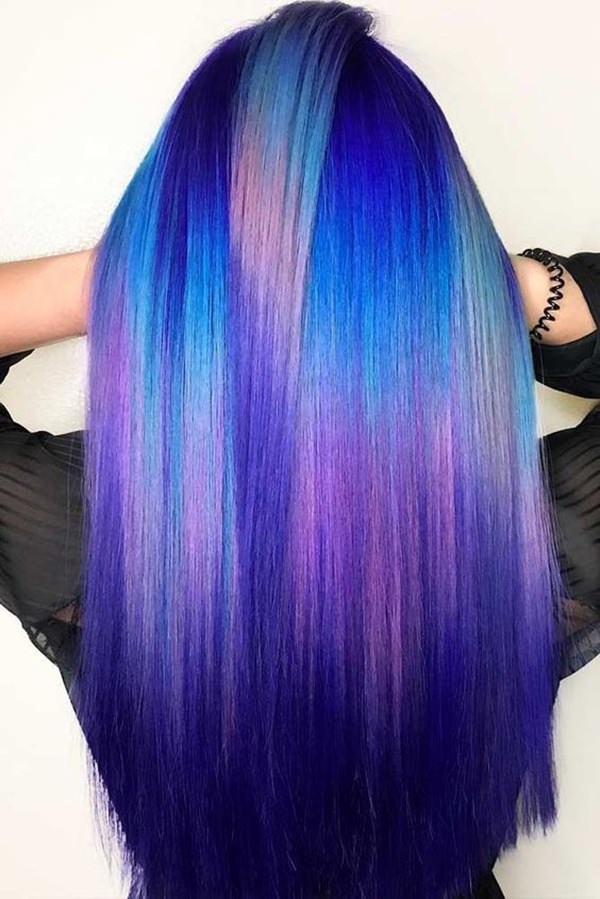 96 Stunningly Deep And Alluring Blue Hair To Try This Season