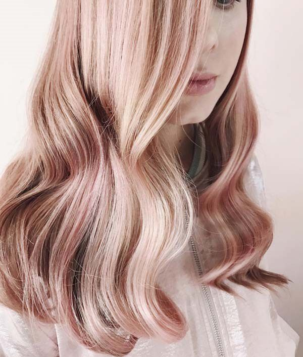 120 Awesome Rose Gold Hairstyles for Classy Women