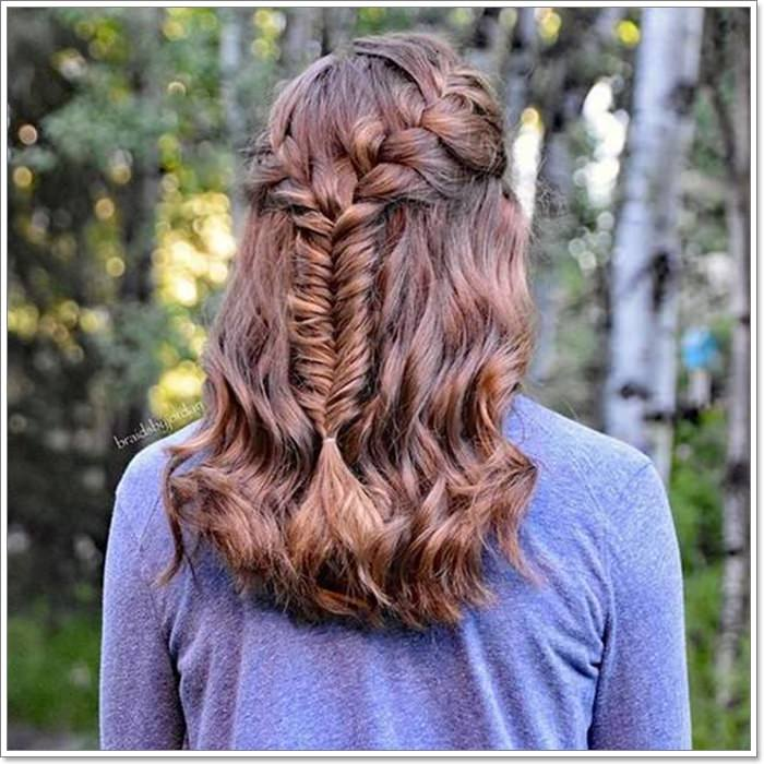 Middle French Plait Hairstyles For Long Hair