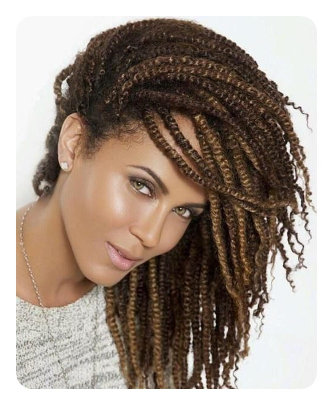 84 Protective Kinky Twists Hairstyles To Try On This Season