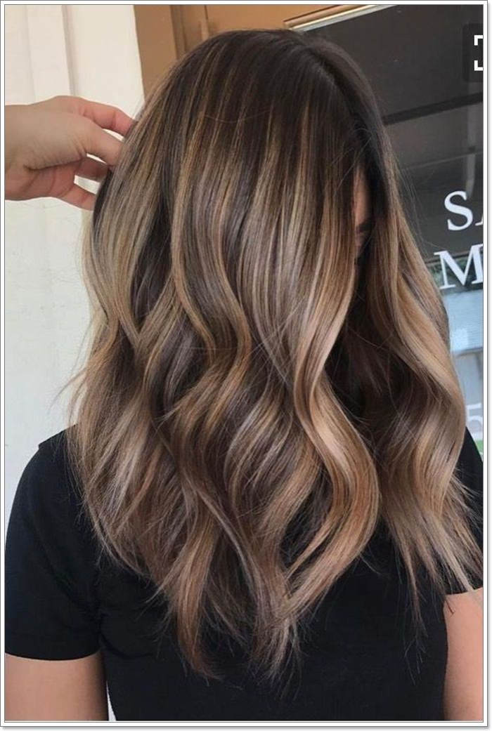 111 Trendy Natural Brown Hair With Blonde Highlights Looks